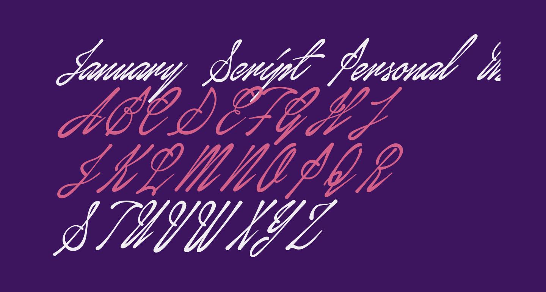 January Script Personal Use