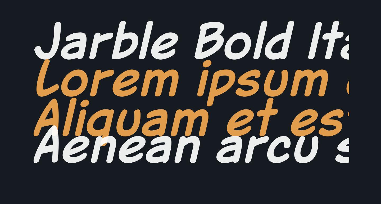 Jarble Bold Italic