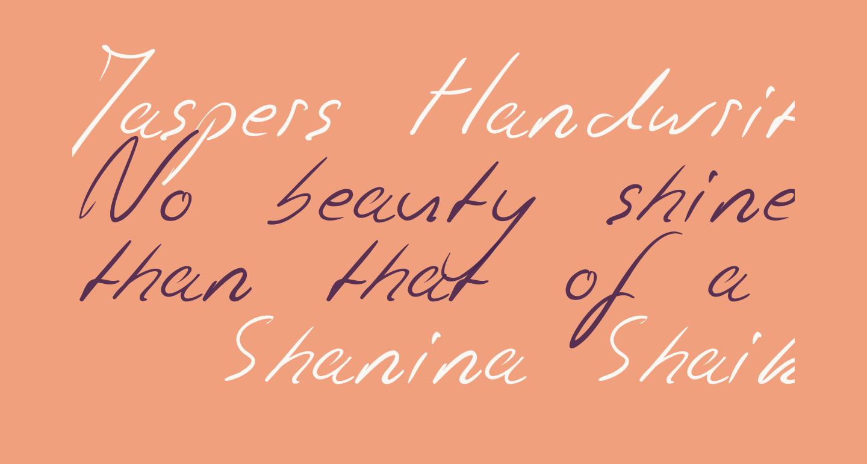 Jaspers Handwriting