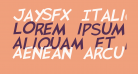 JaySFX Italic