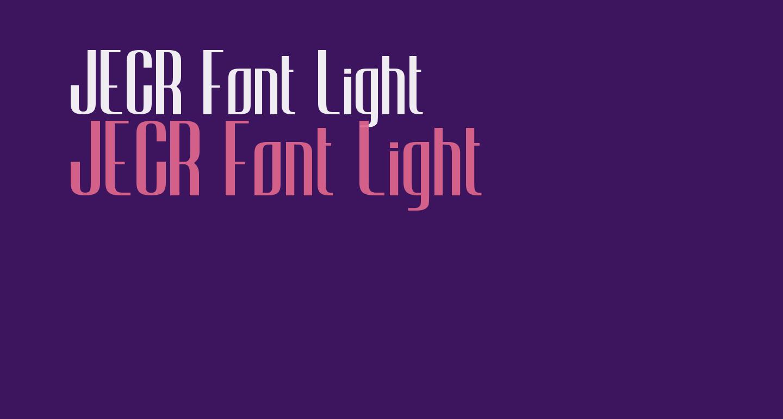 JECR Font Light