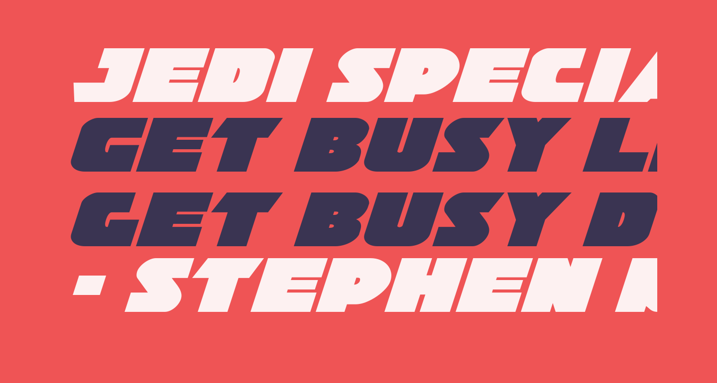 Jedi Special Forces Expanded Italic