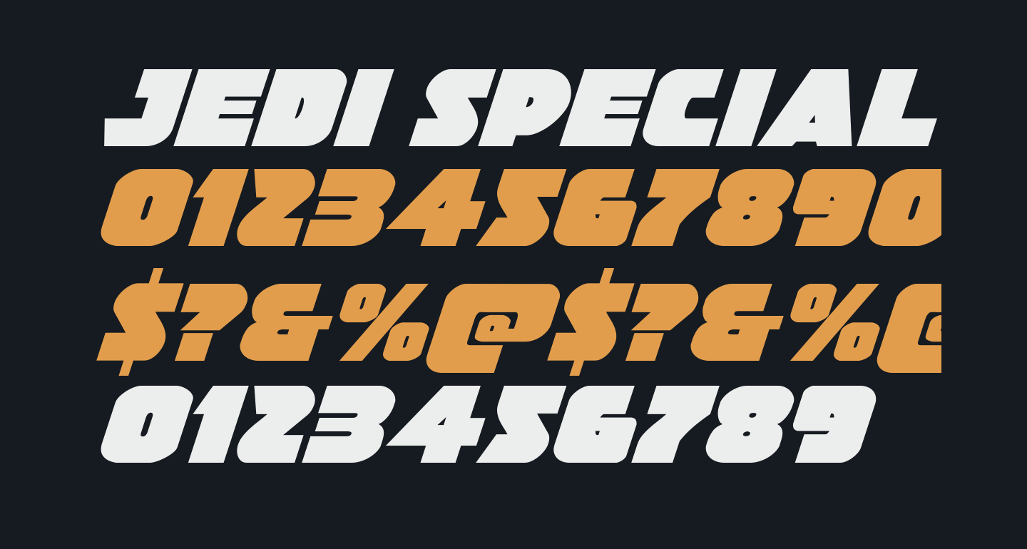 Jedi Special Forces Italic