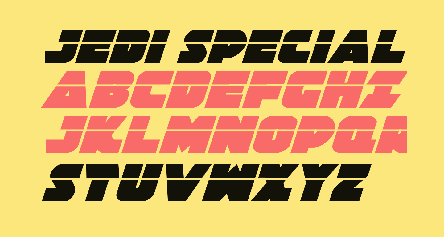 Jedi Special Forces Laser Italic