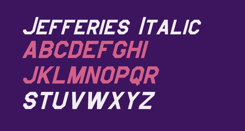 Jefferies Italic