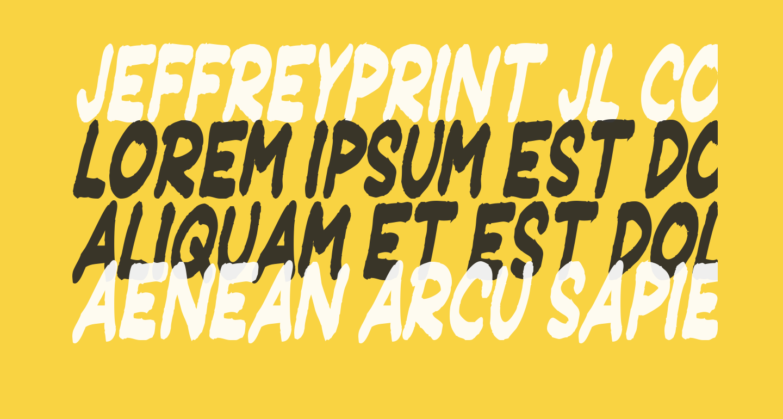JeffreyPrint JL Condensed Italic