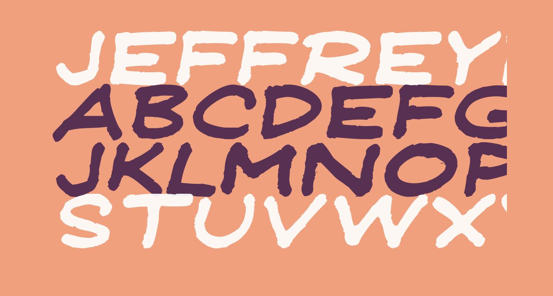 JeffreyPrint JL Wide Italic
