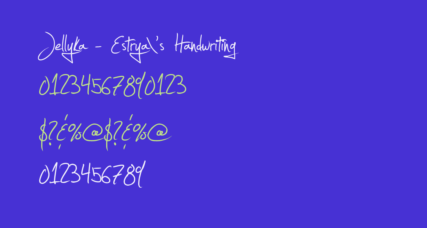 Jellyka - Estrya's Handwriting