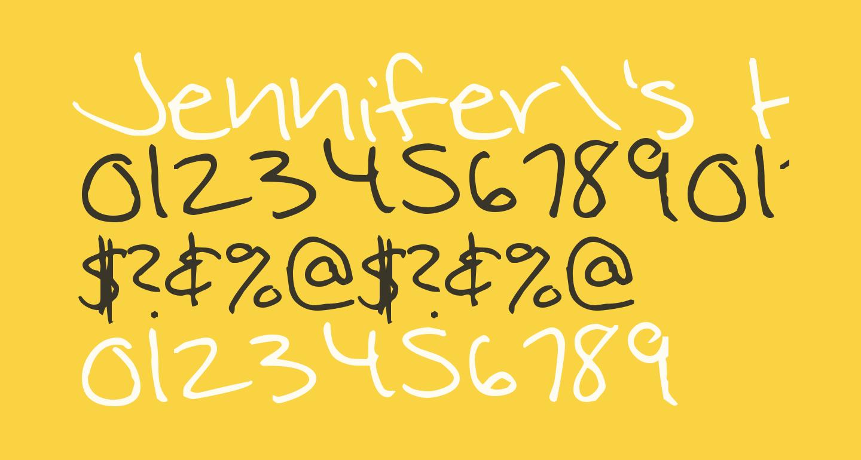 Jennifer's Hand Writing