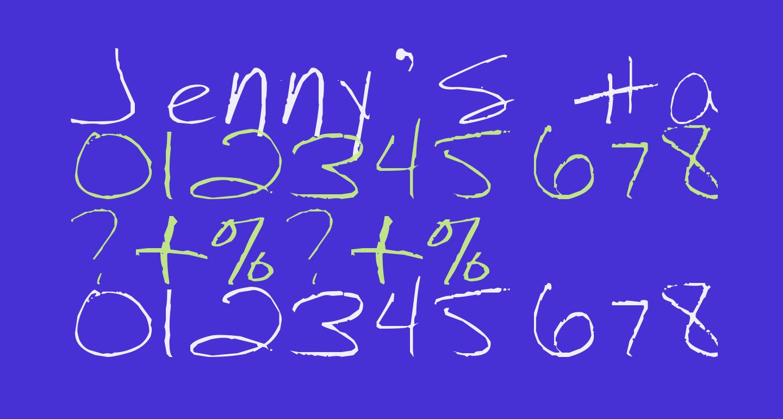 Jenny's Handwriting