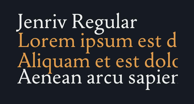 Jenriv Regular