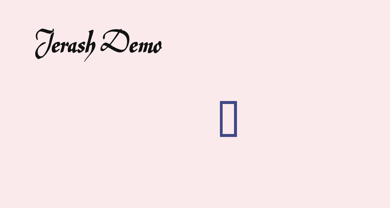 Jerash Demo