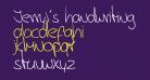 Jerry's handwriting