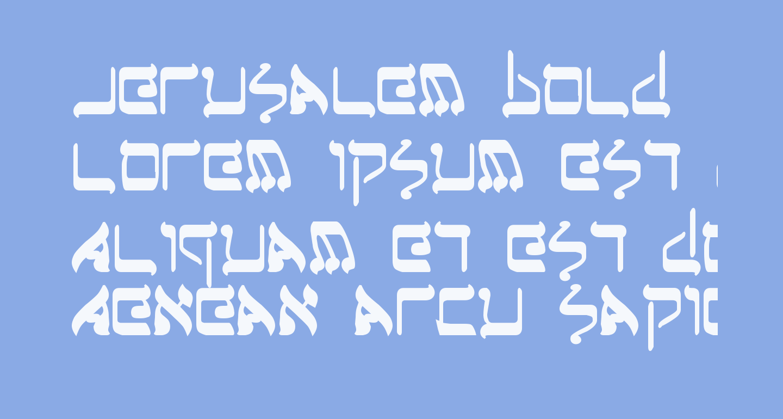 Jerusalem Bold