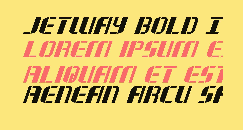 Jetway Bold Italic