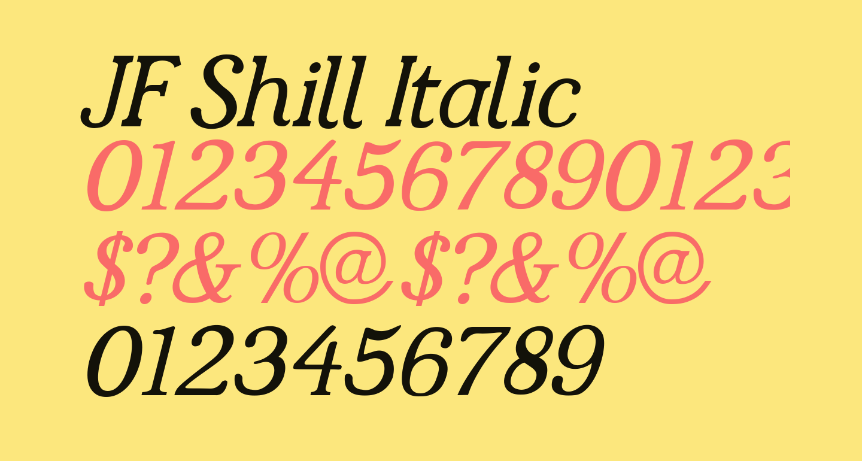 JF Shill Italic