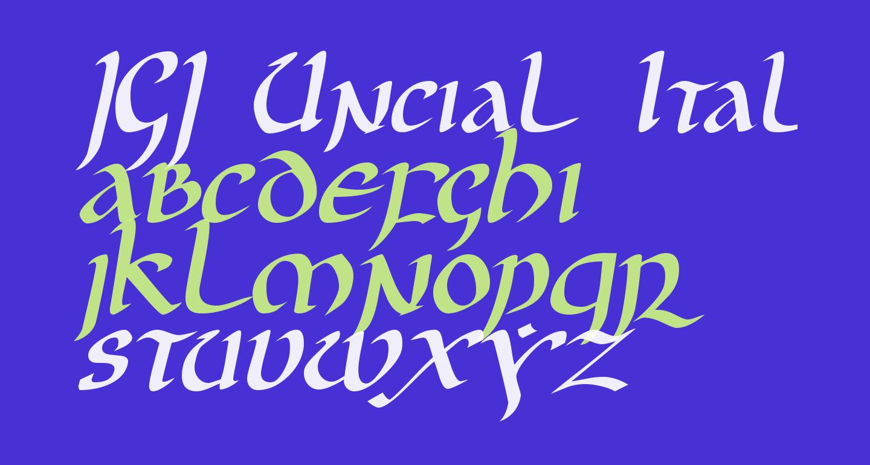 JGJ Uncial Italic