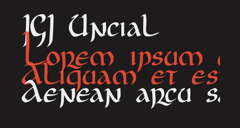 JGJ Uncial