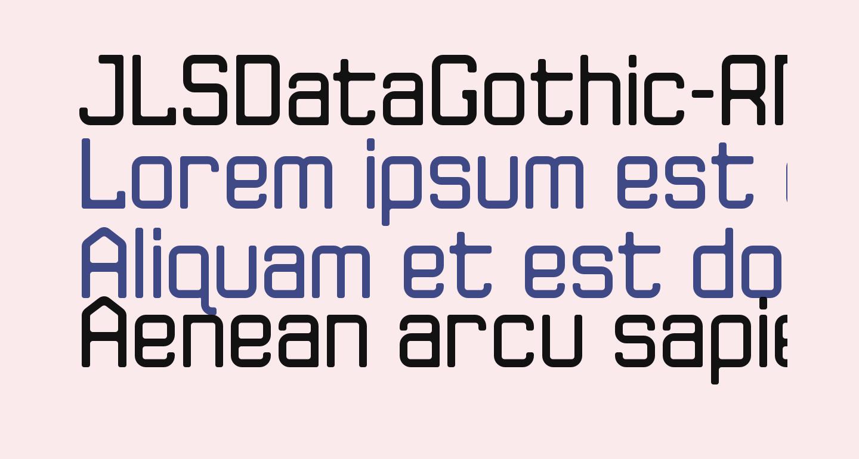 JLSDataGothic-RNC
