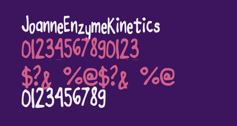 JoanneEnzymeKinetics