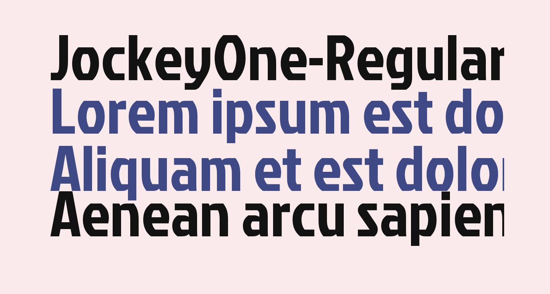 JockeyOne-Regular