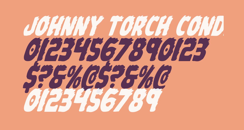 Johnny Torch Condensed Italic