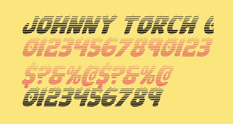 Johnny Torch Gradient Italic