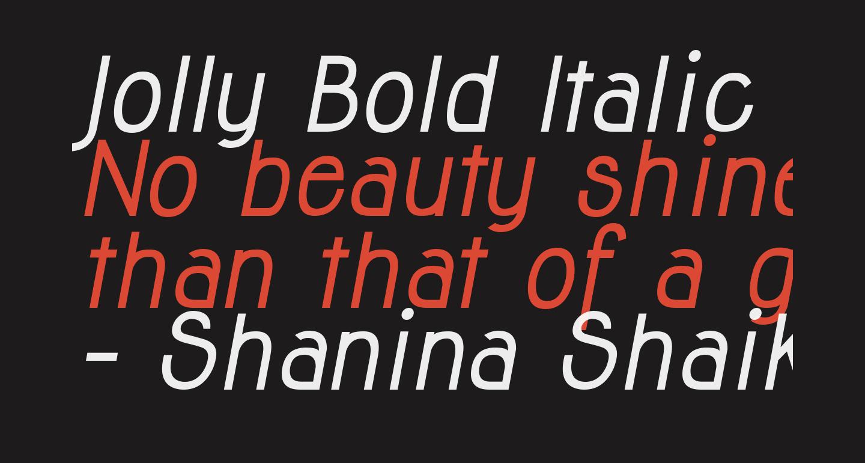 Jolly Bold Italic