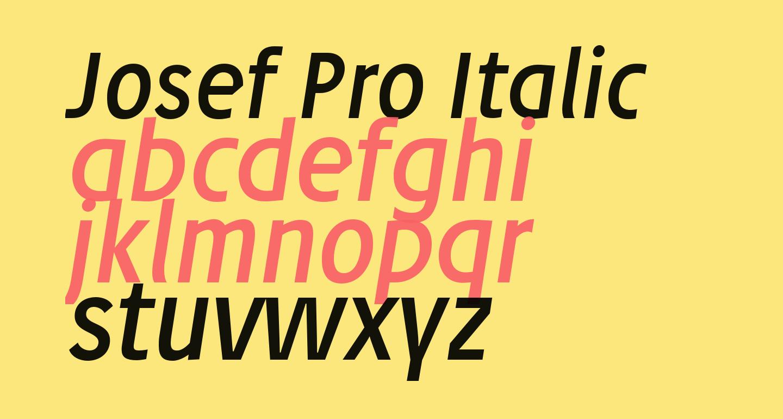 Josef Pro Italic