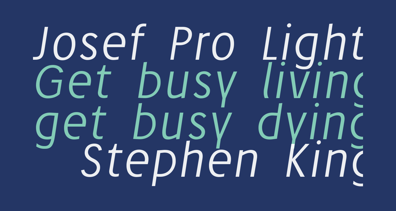 Josef Pro Light Italic