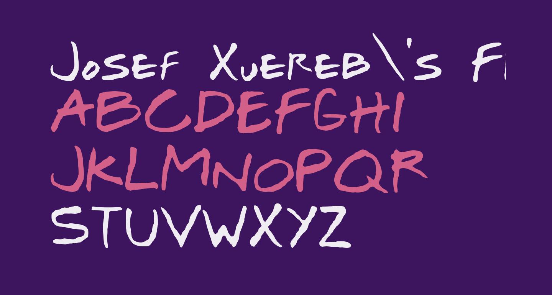 Josef Xuereb's Friends Bold Italic