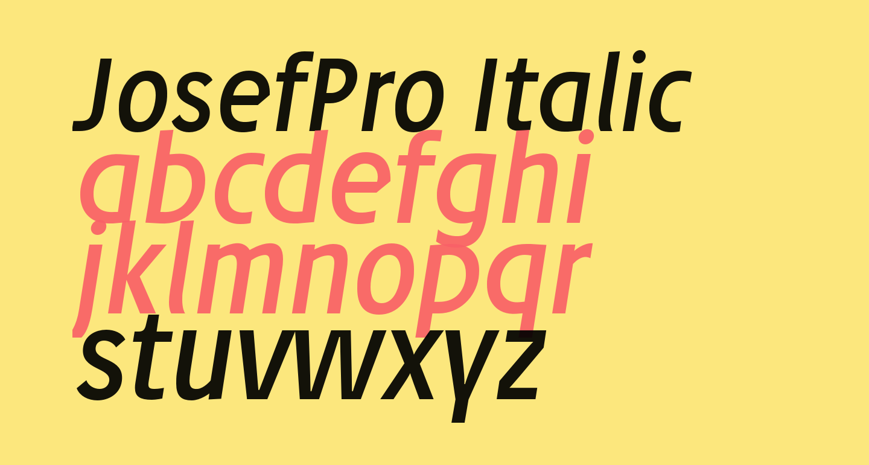 JosefPro-Italic