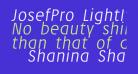 JosefPro-LightItalic