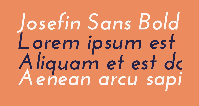 Josefin Sans Bold Italic