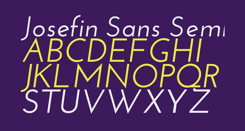 Josefin Sans SemiBold Italic