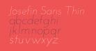 Josefin Sans Thin Italic