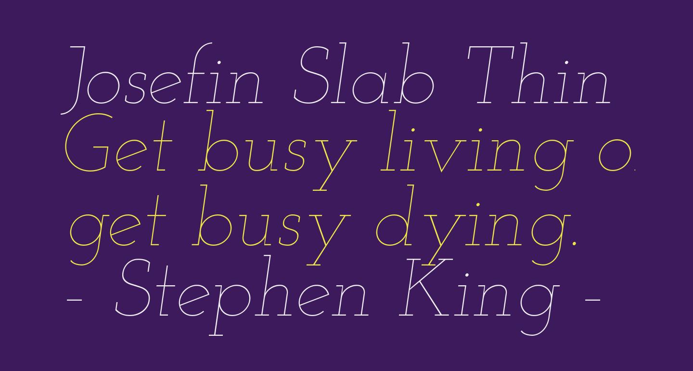 Josefin Slab Thin Italic