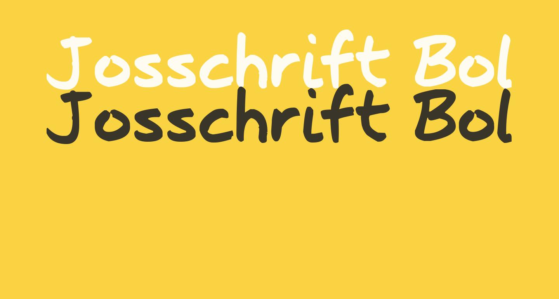 Josschrift Bold