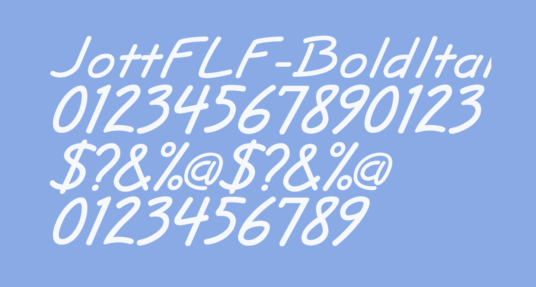 JottFLF-BoldItalic