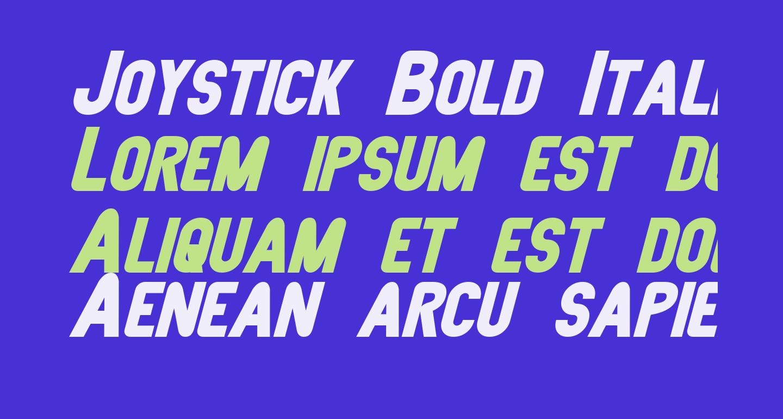 Joystick Bold Italic