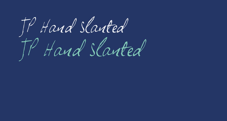 JP Hand Slanted