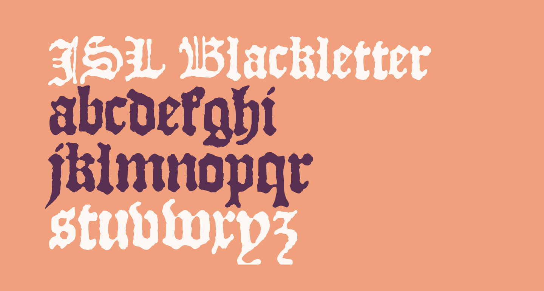 JSL Blackletter