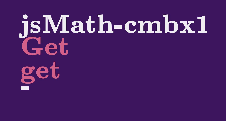 jsMath-cmbx10
