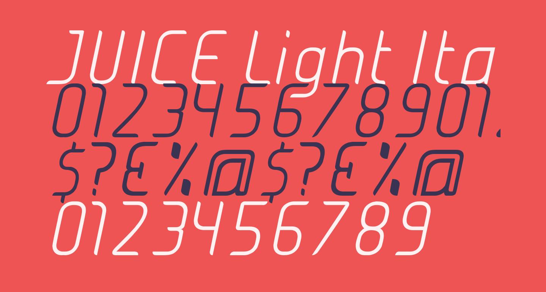 JUICE Light Italic Italic