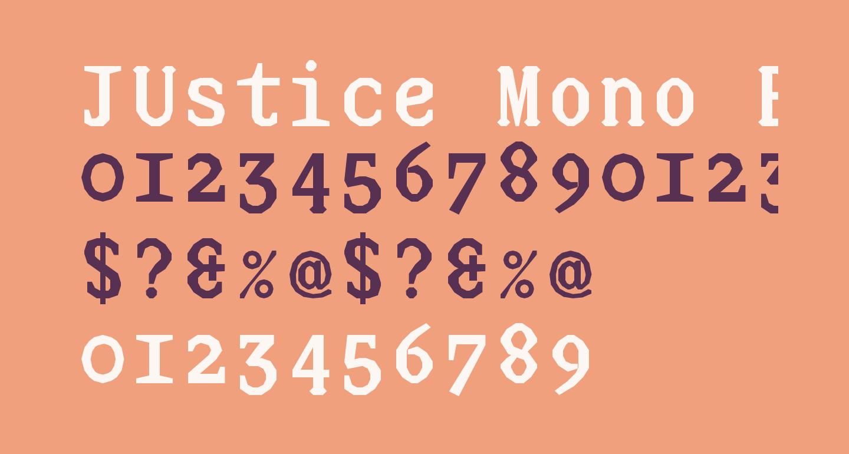 JUstice Mono Bold