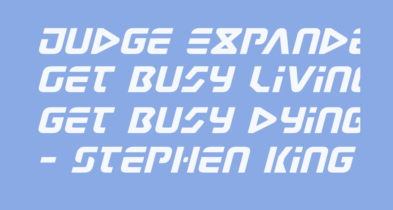 Judge Expanded Italic