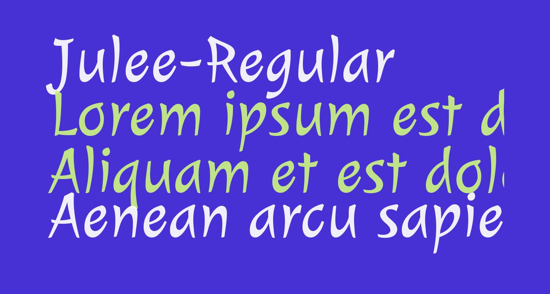 Julee-Regular