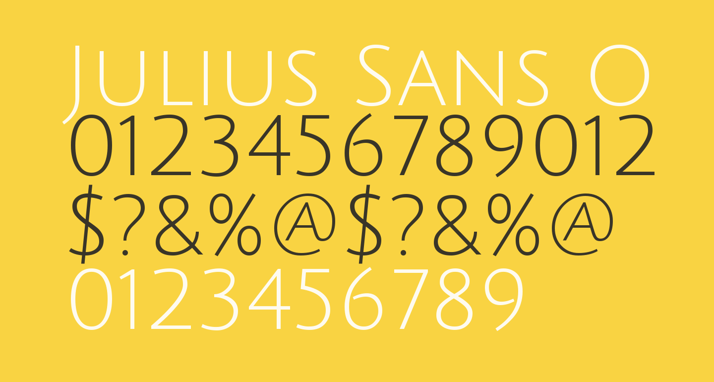Julius Sans One