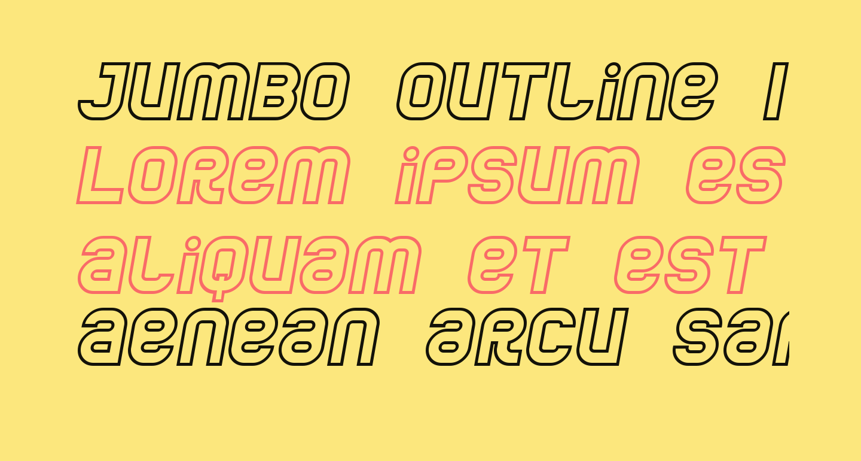 Jumbo Outline Italic