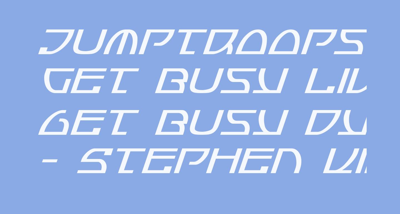 Jumptroops Condensed Italic
